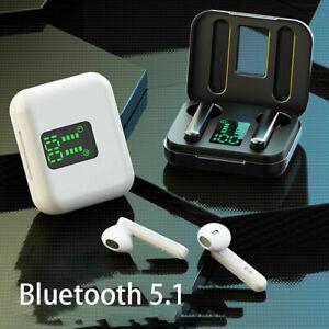 Kopfhörer Bluetooth 5.1 Touch Control In-Ohr Ohrhörer Wireless Headset LED MINI