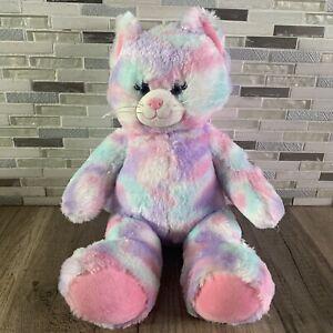 "Build-A-Bear Workshop Pastel Swirl Kitty Cat 15"" BABW Plush Stuffed Animal Toy"