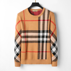 Autumn Burberry Men's Cashmere Sweater Genuine