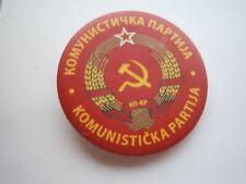 2000 COMMUNIST PARTY YUGOSLAVIA BADGE PIN KPJ COMMUNISM SOUVENIR NEW EDITION
