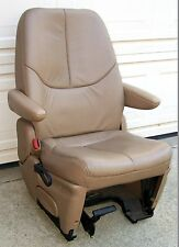 1996 - 2000 LEATHER TAN DRIVER'S 2ND ROW SEAT, CHRYSLER DODGE PLYMOUTH MINIVAN