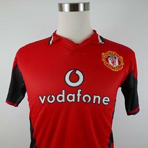 Manchester United Vodafone Beckham Mens Polyester SS Red Soccer Futbol Jersey S