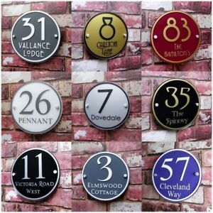 Round Shaped Customized House Numbers Modern Styles Outdoor Home Decorations New