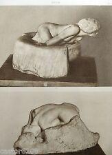 HELIOGRAVURE Auguste RODIN  PETITE FEE des EAUX et DANAÏDE MARBRE L'ART