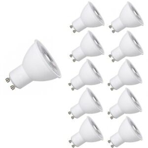 10X Energy Saving LED GU10 6W=50W Non-Dimmable Light Bulbs Spotlight Lamp