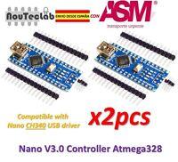 2pcs Nano V3.0 Atmega328P Controller Board Compatible Arduino Nano V3 CH340