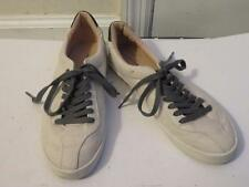 WOMENS ZARA BASIC COLLECTION OFF-WHITE SUEDE LACED-UP SNEAKERS SIZE 39(EUR)