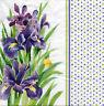 4 Motivservietten Servietten Napkins Tovaglioli Sommer Iris Lila Blumen (1026)