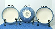 """Lot of 3 Ulster Ceramics Blue Striped Soup or Cereal Bowls Made in U.K. 7"""""""