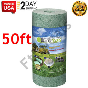 Roll Year-Round Green Grass Seed Mixture Mat Roll For Lawn 50 SQFT PROVEN New