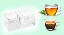 Imperdibile scatola porta bustine buste thè tè zucchero tisane in acrilico ilsa