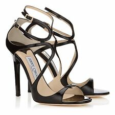 100% AUTHEMTIC JIMMY CHOO LANCE PATENT LEATHER HEELS IN BLACK SIZE 39