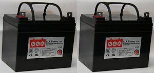 (Two) 12V 35Ah U1 Wheelchair Battery Replaces 36Ah Pihsiang 109101-88107-36P