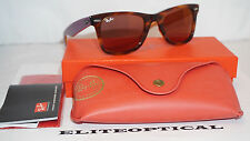 RAY BAN New Sunglasses Wayfarer Limited Tortoise/Purple/Red Mirror RB2140 11772K