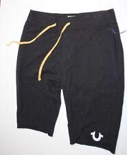 True Religion Men Black  Sweat  Shorts Medium M  ( Fit Big )