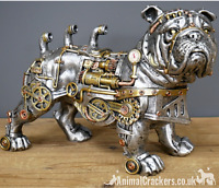 Large 30cm Steampunk Bulldog quirky novelty ornament figurine Dog lover gift
