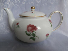 RALPH LAUREN DAPHNE PINK ROSES AND GREEN LEAVES PORCELAIN LARGE TEAPOT RARE GIFT