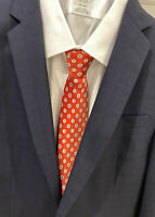 BRIONI Mens 100% Silk Tie - Red - Made in Italy