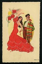 Embroidered clothing postcard Artist Gumier Spain Jerez woman costumes #25