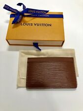 Louis Vuitton Brown Epi Card Case Wallet New With Box $245