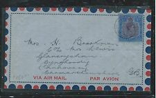 BERMUDA (P2906B) 1948  KGVI KEYPLATE 2/- ON A/M COVER TO ENGLAND, MISSING BACK F
