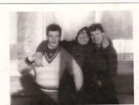 1980s Handsome young men guys friends buddies hug Soviet Russian photo gay int