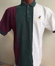 Walt Disney World Mickey Mouse Polo Rugby Golf Shirt Large 100% Combed Cotton