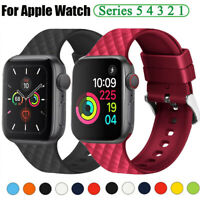Soft Rubber Silicone Sports Band Strap for Apple Watch iWatch Series SE 6 5 4 3