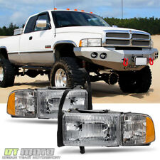 1994-2001 Dodge Ram 1500 2500 3500 Truck Headlights+Signal Corner Lamps Pair Set