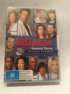 Grey's Anatomy Season 3 DVD 7-Disc Set Region 4 New Sealed