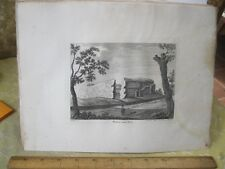 Vintage Print,WALDEN CASTLE,Grose's Antiquities England,c1790