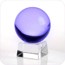 """Purple (Lavender) Crystal Ball 150mm 6"""" with Angled Crystal Stand in Gift Box"""