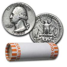 90% Silver Washington Quarters 40-Coin Roll Avg Circ - SKU #5194