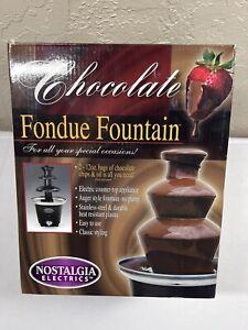 Chocolate Fondue Fountain Nostalgia Electrics Stainless Steel and Plastic