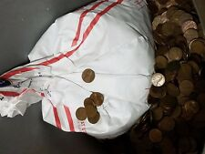 Bag of 3,000 Circulated 95% Copper Pennies. 20LBS Bulk Bullion. Wheats & Keepers
