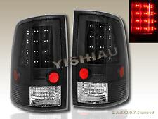 09 10 11 12 13 14 15 DODGE RAM 1500 2500 3500 PICKUP BLACK LED TAIL LIGHTS NEW