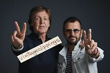 PAUL McCARTNEY & RINGO STARR 2016 20x15 photo Eight Days A Week promo beatles