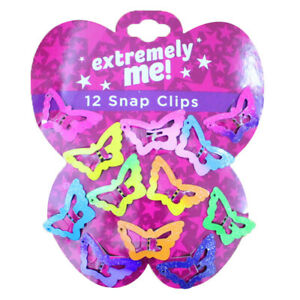 12PCS/Set Kids Girls Cute Candy Color Barrettes BB Clip Hair Clips Accessories