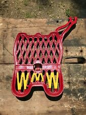 Wmw Large Foot Pedal Antique Tractor Parts Farm Advertising Cast Iron Red Amp