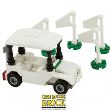 Golf Cart Course Buggy with Flags - Custom model kit - Real LEGO
