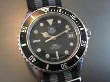 TAG HEUER Professional 1000 Diver 200m Wristwatch Quartz Steel Vintage $1 NO RSV
