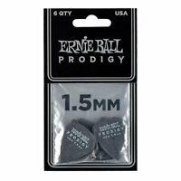 Ernie Ball 9199 1.5mm Black Standard Prodigy Guitar Jazz Picks 6-Pack