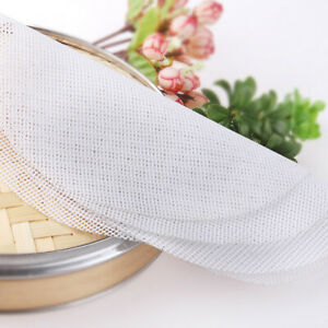 5Pcs Non Stick Silicone Mat Steamer Pad Dim Sum Mesh Paper Cooking Tool Kitchen