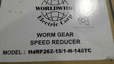 HDRF262-15/1-H-145TC Worldwide Speed Reducer 15:1 Ratio