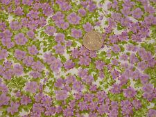Quilting Tissu Rose/violet fleurs, feuilles 100% coton par Moda   FQS   PIF11