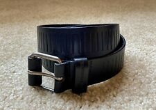 A|X ARMANI EXCHANGE 100% Textured Leather Men's Navy Belt 28 Inch