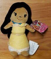 "New Disney Princess Mini Pocahontas 6"" Plush Bean Small Soft Movie Doll NWT"