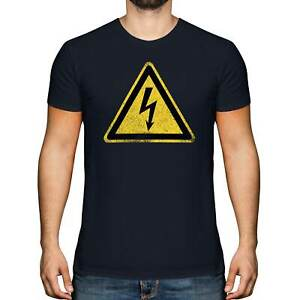 HIGH VOLTAGE SIGN MENS T-SHIRT TEE TOP GIFT ROAD SIGN WARNING