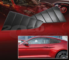Black Quarter 1/4 Side Window Louver Scoop Cover For 15-17 Ford Mustang GT V6