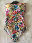 NEW Isola Portofino Ruched Bandeau Maillot One Piece Dahlia Size 14 rrp $189.95
